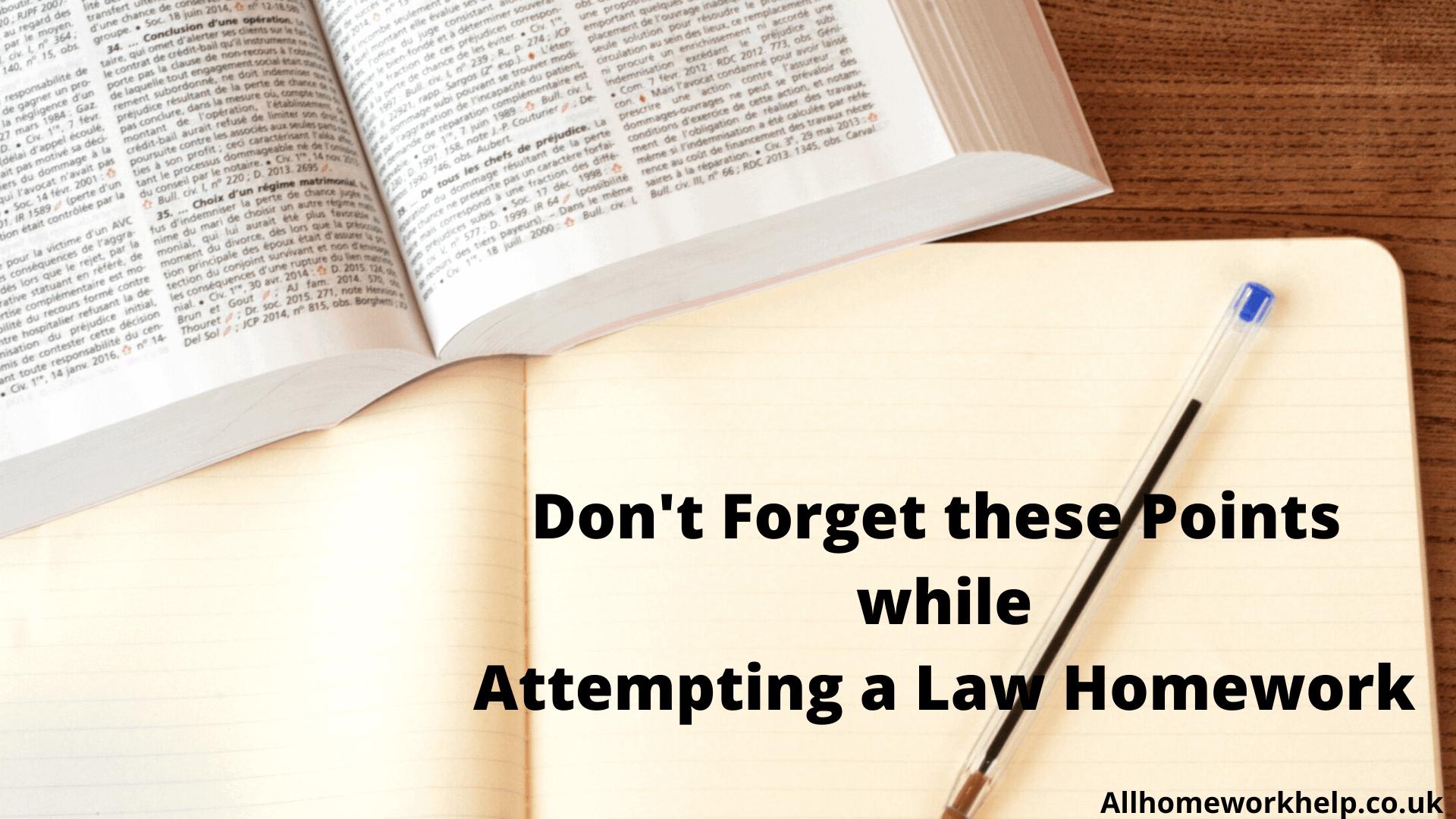 Law-homework-help